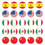 Flag Icon set royalty free illustration