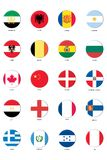 Flag Icon set Stock Photography