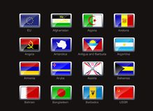 Flag icon set (part 1) Stock Image