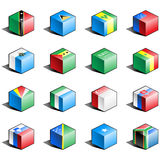 Flag icon set (part 10) Royalty Free Stock Photo