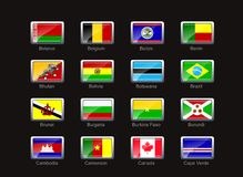 Flag icon set (part 2). Flag Icon set.check my portfolio for similar image and other design Stock Photo
