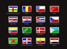 Flag icon set (part 3) Stock Image