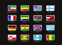 Flag icon set (part 4) Stock Photos