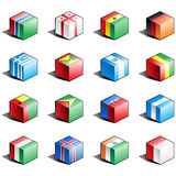 Flag icon set (part 5) Royalty Free Stock Image