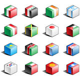 Flag icon set (part 6) Royalty Free Stock Images