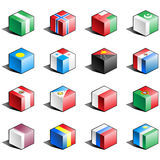 Flag icon set (part 9) Royalty Free Stock Image