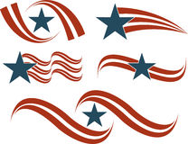 Flag Icon Set in red and blue Royalty Free Stock Images