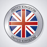 Flag icon. United kingdom design.  graphic. United kingdom concept represented by button of flag icon. Colorfull and flat illustration Stock Photography