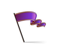 Flag icon. Waving purple flag icon. Vector illustration Royalty Free Stock Images