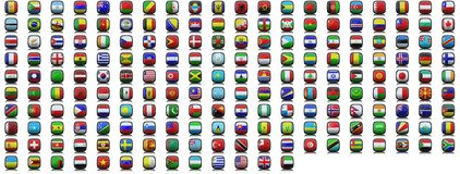 Flag icons Royalty Free Stock Photos