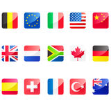 Flag icons Stock Photos