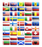 Flag icons. Vector design elements Royalty Free Stock Photo