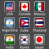 Flag icons Royalty Free Stock Photos
