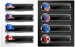 Flag icons Stock Photo