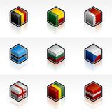 Flag Icons Set 56g Royalty Free Stock Images