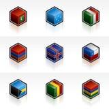 Flag Icons Set 56h Stock Image