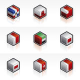 Flag Icons Set -Design Elemen Royalty Free Stock Photo