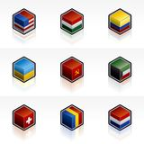 Flag Icons Set - Design Elements 56b Stock Photo