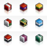 Flag Icons Set - Design Elements 56d Stock Image