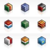 Flag Icons Set - Design Elements 56e Stock Photography