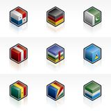 Flag Icons Set - Design Elements 56f Royalty Free Stock Photo