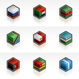 Flag Icons Set - Design Elements 56l Royalty Free Stock Images