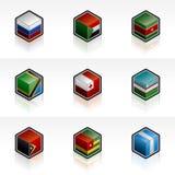 Flag Icons Set - Design Elements 56l Royalty Free Stock Images