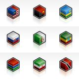Flag Icons Set - Design Elements 56n Stock Image