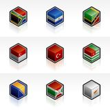 Flag Icons Set - Design Elements 56p Royalty Free Stock Photos