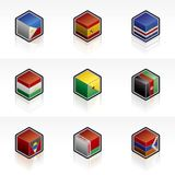 Flag Icons Set - Design Elements 56r Stock Image