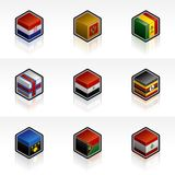 Flag Icons Set - Design Elements 56x Stock Photography