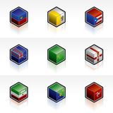 Flag Icons Set - Design Elements 56y Stock Photo