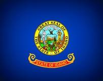 Flag of Idaho. U.S. stat flag of Idaho - background stock illustration
