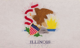 Flag of Illinois Grunge. Illustration of the flag of Illinois state in America with a grunge look Royalty Free Stock Photos