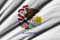 Flag of Illinois. High detailed waving flag of different countries from all over the world Royalty Free Stock Photos