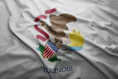 Flag of Illinois state Stock Photos