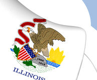 Flag of Illinois, USA. Close Up Royalty Free Stock Photography