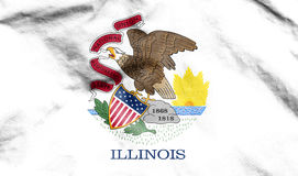 Flag of Illinois, USA. Stock Photography