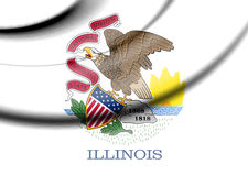 Flag of Illinois, USA. Royalty Free Stock Image