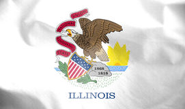 Flag of Illinois, USA. Stock Image