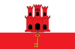 A Flag Illustration of the country of Gibraltar Royalty Free Stock Photography