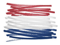 Flag illustration - Netherlands Royalty Free Stock Photography