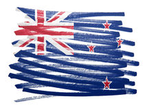 Flag illustration - New Zealand Stock Photography