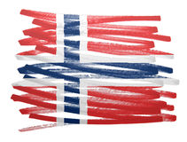 Flag illustration - Norway Stock Photos