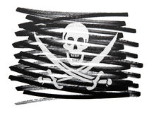 Flag illustration - Pirate Royalty Free Stock Images