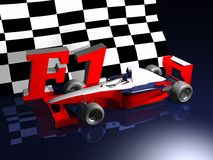 Flag illustration. To squares and car of careers Royalty Free Stock Images