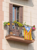 Flag of independent Catalonia Royalty Free Stock Photos