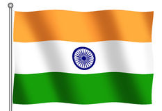 Flag of India. Waving Stock Images