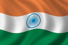 Flag of India. Waving in the wind Stock Image