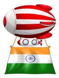 The flag of India attached to the floating balloon Royalty Free Stock Photography